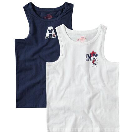 Σετ 2 αμάνικα ζέρσεϊ μπλουζάκια με στάμπα Μίκυ της Disney