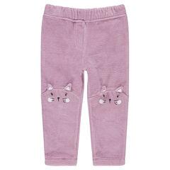 Παντελόνι από βελούδο με μοτίβο ζωάκι στα γόνατα
