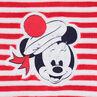 Βελουτέ φορμάκι ύπνου με ρίγες και πουά και μπάλωμα Minnie της ©Disney