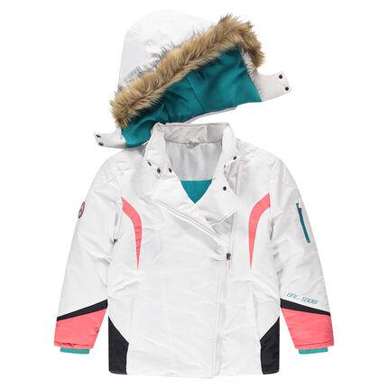 8e897984588 Παιδικά - Μπουφάνι σκι με αφαιρούμενη κουκούλα και συνθετική γούνα ...