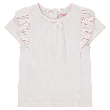 Κοντομάνικες μπλούζες με βολάν