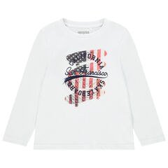 T-shirt μακρυμάνικο σχέδιο φαντεζί για αγόρι , Orchestra