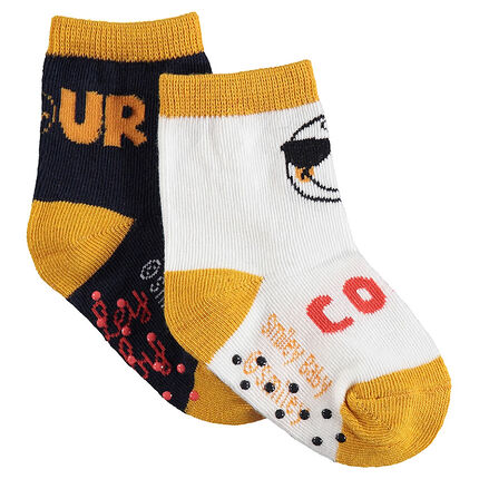 Lot de 2 paires de chaussettes Smiley
