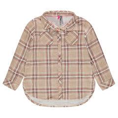 Μακρυμάνικο πουκάμισο καρό με τσέπες