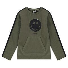 Μακρυμάνικη μπλούζα από χοντρό ζέρσεϊ με «μαγικές» πούλιες ©Smiley