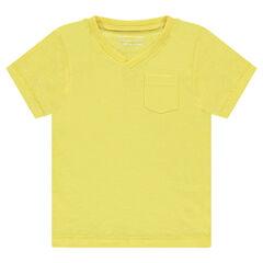Παιδικά - Κοντομάνικη μπλούζα από ζέρσεϊ με τσέπη