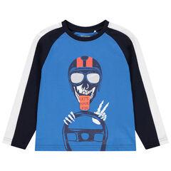 Μακρυμάνικη μπλούζα με ρεγκλάν μανίκια και στάμπα νεκροκεφαλή