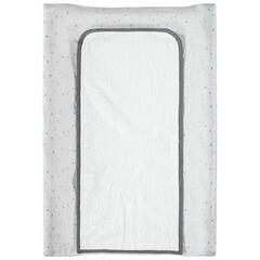 Housse de matelas à langer imprimée avec tapis amovible