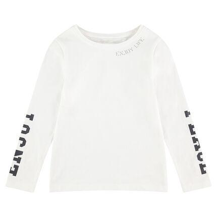Μακρυμάνικη μπλούζα με τυπωμένα γράμματα