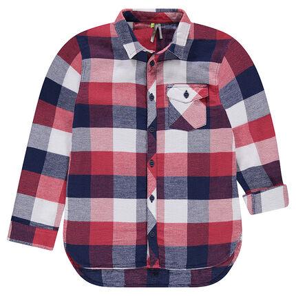Παιδικά - Μακρυμάνικο πουκάμισο με καρό μοτίβο και τσέπη