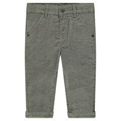 Κοτλέ παντελόνι με ζέρσεϊ επένδυση