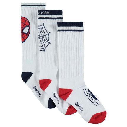 Σετ 3 ζευγάρια κάλτσες με ζακάρ μοτίβο Spiderman της Marvel