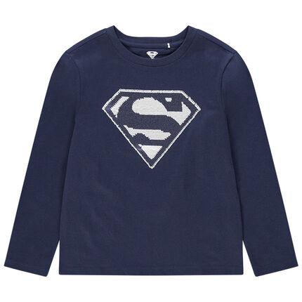 Μακρυμάνικη μπλούζα με «μαγικές» πούλιες και σχέδιο Superman