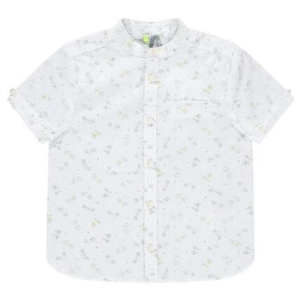 add1faab39f7 Κοντομάνικο πουκάμισο με εμπριμέ μοτίβο ποδήλατα - Orchestra GR