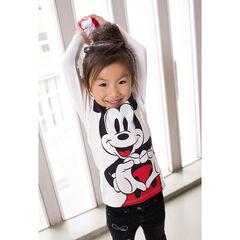 Μακρυμάνικη μπλούζα ζέρσεϊ με στάμπα Mickey της ©Disney και βολάν στη λαιμόκοψη
