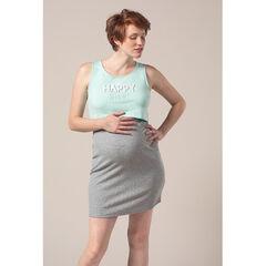 Νυχτικό εγκυμοσύνης και θηλασμού 2 σε 1 με τυπωμένο μήνυμα