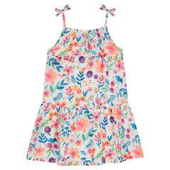 Φλοράλ φόρεμα με βολάν