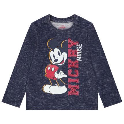 Μακρυμάνικη μπλούζα από μελανζέ ζέρσεϊ με στάμπα Μίκυ της Disney