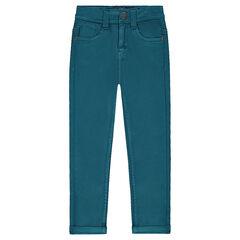 Υφασμάτινο παντελόνι σε slim γραμμή