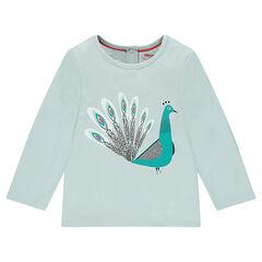 Μακρυμάνικη μπλούζα με διακοσμητικό σχέδιο
