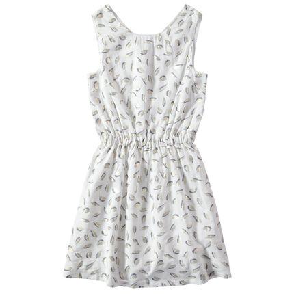 Παιδικά - Αμάνικο φόρεμα με εμπριμέ μοτίβο χρυσά φτερά σε όλη την επιφάνεια.