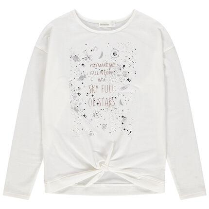 Παιδικά - Μακρυμάνικη μπλούζα με τυπωμένους πλανήτες