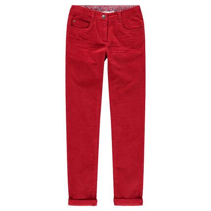 Παιδικά - Μονόχρωμο βελουτέ παντελόνι με τσαλακωμένη όψη