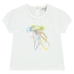 Κοντομάνικη μπλούζα ζέρσεϊ με στάμπα μέδουσα
