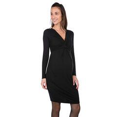 Μακρυμάνικο φόρεμα εγκυμοσύνης με V λαιμόκοψη