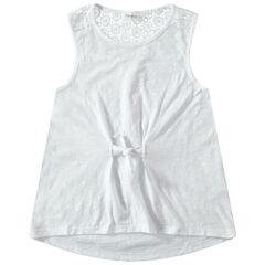 Παιδικά - Αμάνικη μπλούζα από ζέρσεϊ slub ύφασμα με δαντέλα στην πλάτη