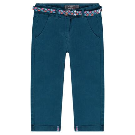 Παντελόνι chino με μήκος μέχρι τον αστράγαλο και εμπριμέ αφαιρούμενη ζώνη