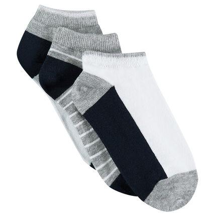 Σετ με 3 ζευγάρια ασορτί κοντές κάλτσες