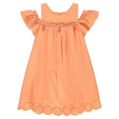 Φόρεμα από βαμβακερό κρεπ με άνοιγμα στους ώμους