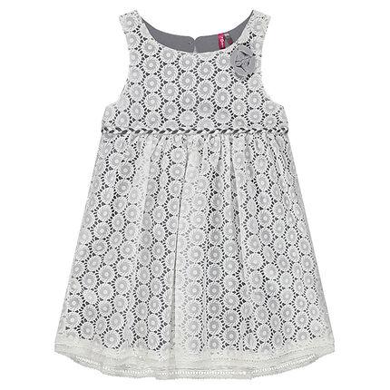 Αμάνικο φόρεμα με μοτίβο από δαντέλα