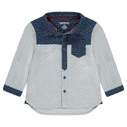 Μακρυμάνικο πουκάμισο με μοτίβα ζακάρ