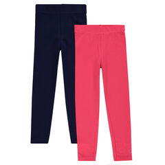 Lot de 2 leggings longs unis