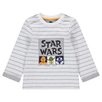 Ζέρσεϊ μακρυμάνικη μπλούζα με τυπωμένους χαρακτήρες Star Wars™