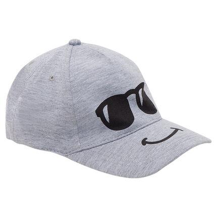 Καπέλο τζόκεϊ από φανέλα με τυπωμένα γυαλιά