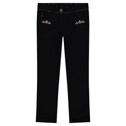 Παντελόνι από τουίλ με φλοράλ κεντήματα