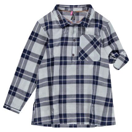 Παιδικά - Μακρυμάνικη καρό τουνίκ σε στυλ πουκαμίσας