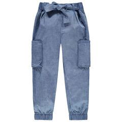 Παντελόνι cargo με τσέπες και ζώνη που δένει