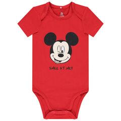 Body manches courtes en coton bio print Mickey Disney
