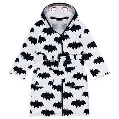 Μπουρνούζι με μοτίβο Batman της Disney σε όλη την επιφάνεια και κουκούλα με ενσωματωμένη μάσκα