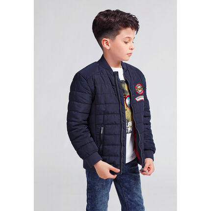 Παιδικά - Τζάκετ καπιτονέ με τσέπες με φερμουάρ