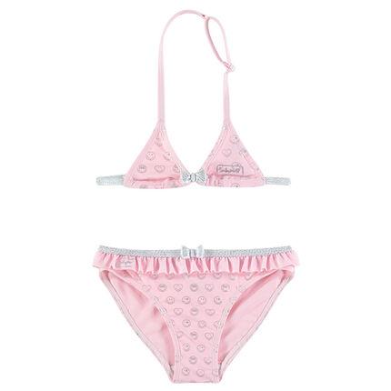 Ροζ μπικίνι με εμπριμέ μοτίβο ©Smiley