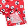 Κοντή κόκκινη βαμβακερή σαλοπέτα με μοτίβο αρκουδάκια