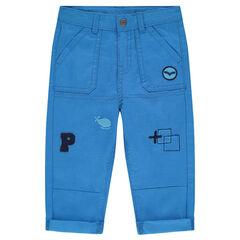 Παντελόνι από τουίλ με απλικέ σήματα και κεντήματα