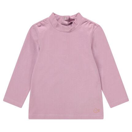 Μακρυμάνικη μπλούζα με όρθιο λαιμό και μικρό τυπωμένο μοτίβο