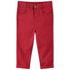 Βαμβακερό παντελόνι με νηματοβαφή και τσέπες