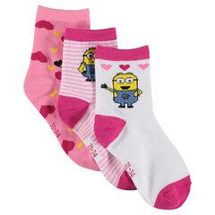 Σετ με 3 ζευγάρια κάλτσες Minions